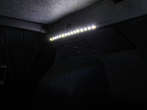 Kofferraum Beleuchtung Erweiterung  Rechts