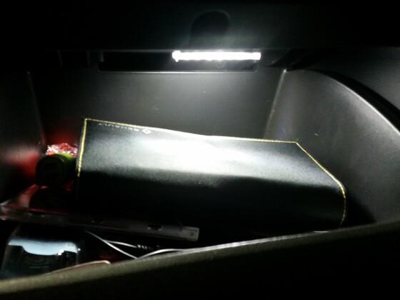 LED Beleuchtung Handschuhfach weiß heute eingebaut