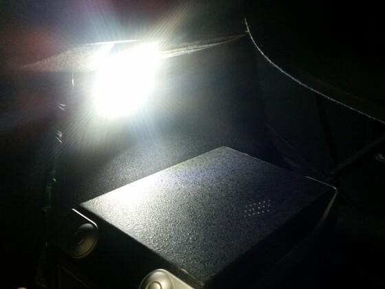 LED Beleuchtung weiß jetzt im Kofferraum