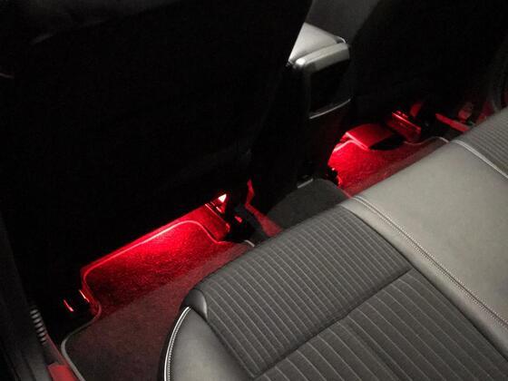 Fußraumbeleuchtung hinten